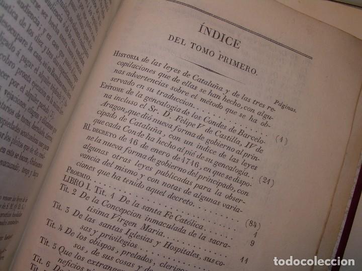 Libros antiguos: IMPORTANTE OBRA EN 4 TOMOS..USAGES DE CATALUÑA Y DEMAS DERECHOS....AÑO 1832 - Foto 12 - 194121355