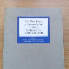 Libros antiguos: SISTEMA DE DERECHO CIVIL. VOL. I LUIS DÍEZ-PICAZO ANTONIO GULLÓN. 1982. Lote 194185998