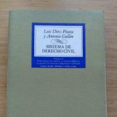 Libros antiguos: SISTEMA DE DERECHO CIVIL. VOL. II LUIS DÍEZ-PICAZO ANTONIO GULLÓN. 1982. Lote 194186130