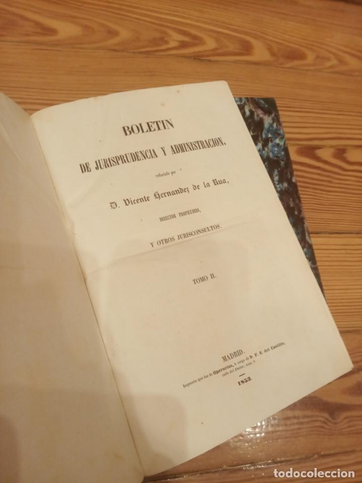 Libros antiguos: Boletín de jurisprudencia, legislación y administración 1853 Tomo I y II - Foto 2 - 194188995