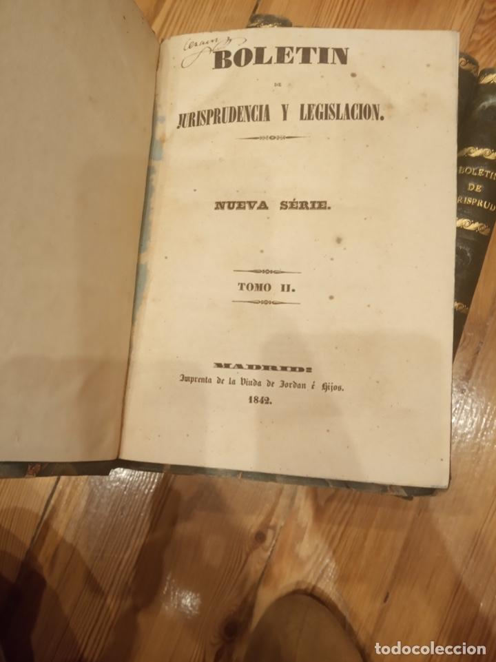 Libros antiguos: Boletín de jurisprudencia y legislación 1842 hasta 1845 - Foto 2 - 194191880