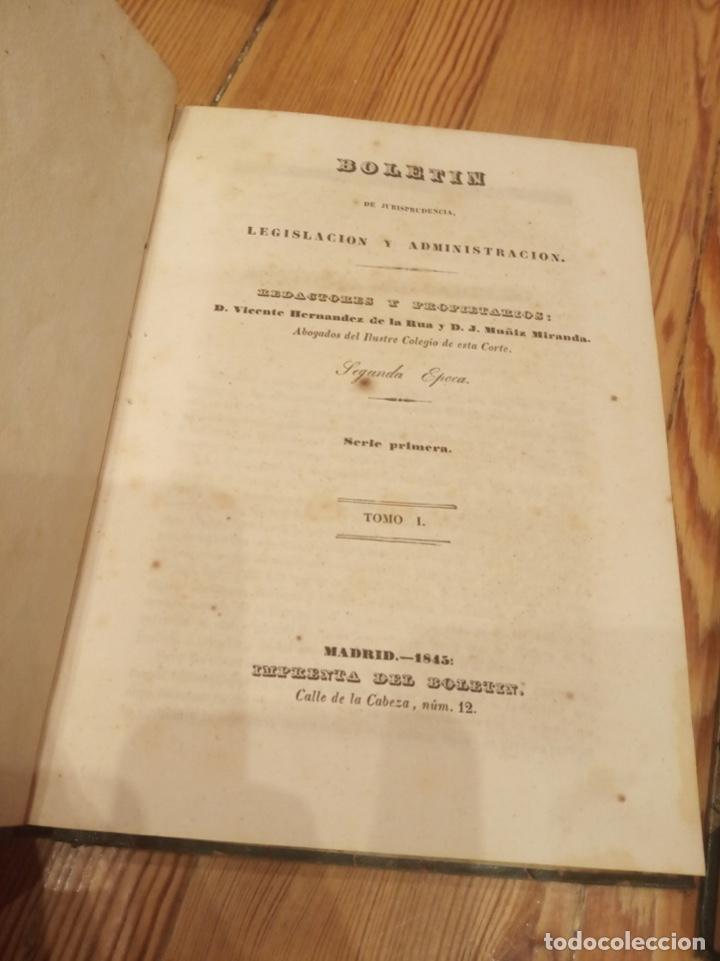 Libros antiguos: Boletín de jurisprudencia, legislación y administración 1845 Tomo I y II - Foto 2 - 194192603