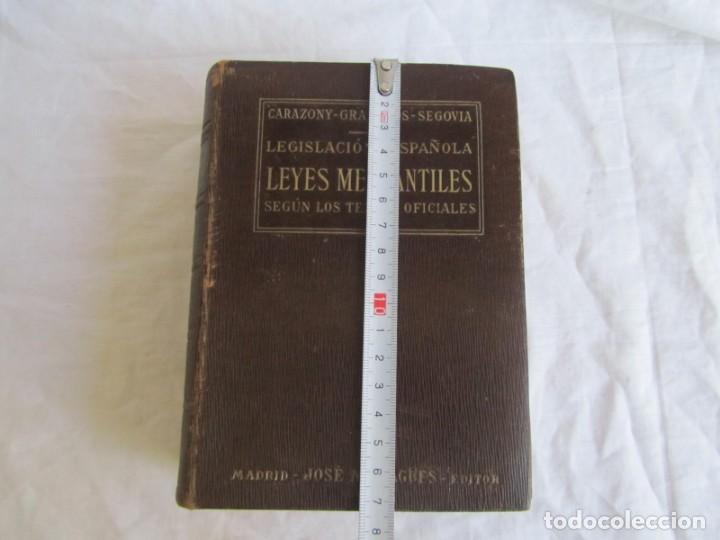 Libros antiguos: Legislación española Leyes mercantiles Carazony Granados Segovia 1935 - Foto 5 - 194218363