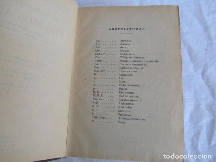 Libros antiguos: Legislación española Leyes mercantiles Carazony Granados Segovia 1935 - Foto 10 - 194218363