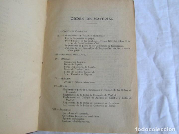 Libros antiguos: Legislación española Leyes mercantiles Carazony Granados Segovia 1935 - Foto 11 - 194218363