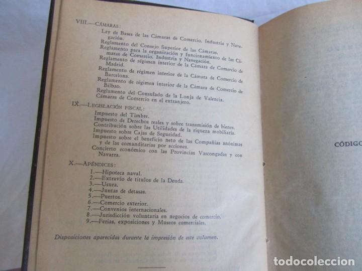 Libros antiguos: Legislación española Leyes mercantiles Carazony Granados Segovia 1935 - Foto 12 - 194218363