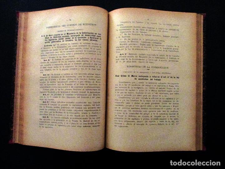 Libros antiguos: MANUEL DEL NIDO Y TORRES. LEY DE ACCIDENTES DEL TRABAJO. 1911. SEVILLA. DERECHO. - Foto 9 - 194322843