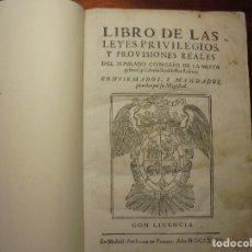 Libros antiguos: ORDENANAZAS DE LA MESTA. 1681. Lote 194329730