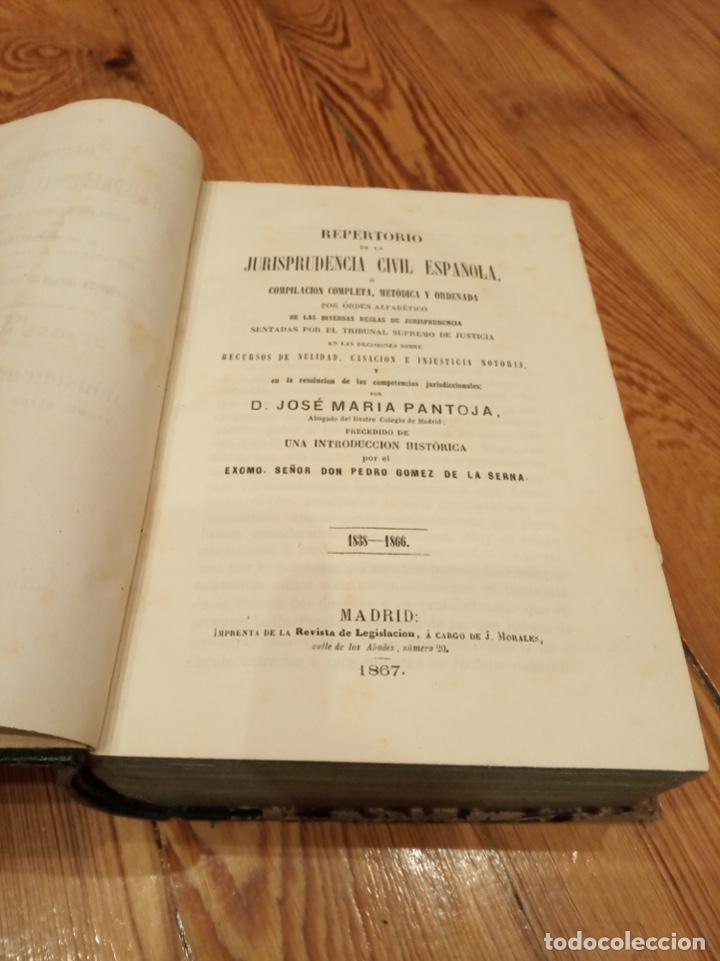 Libros antiguos: Repertorio de la jurisprudencia civil española 1838-1866 - Foto 2 - 194332198