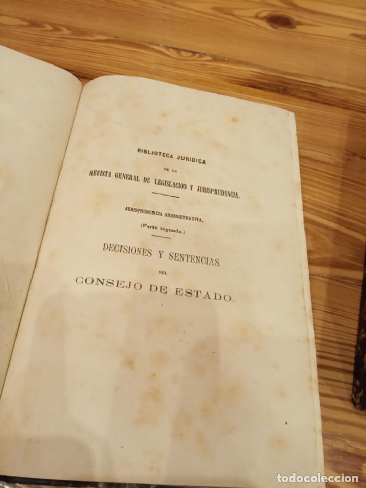 Libros antiguos: Biblioteca jurídica de la Revista General Legislación Jurisprudencia 1866 1868 1870 1873 1874 1875 - Foto 2 - 194332805