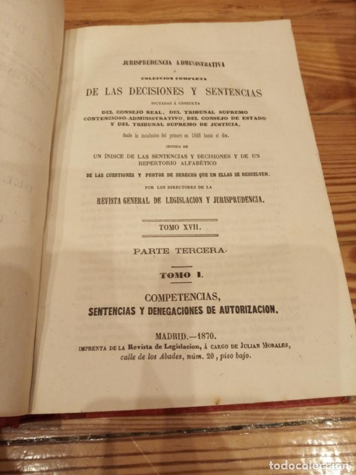 Libros antiguos: Revista General de Legislación y Jurisprudencia 1870 1875 1877 1878 - Foto 3 - 194333292