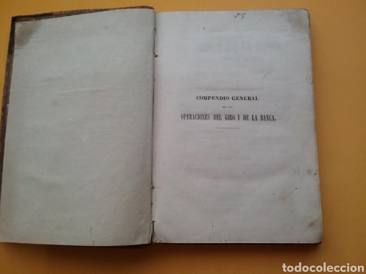 Libros antiguos: Compendio General de las Operaciones del giro y de la banca, según las cotizaciones 1855. - Foto 2 - 194393403