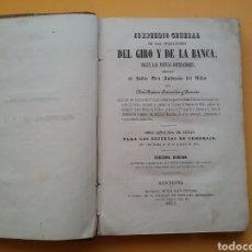 Libros antiguos: COMPENDIO GENERAL DE LAS OPERACIONES DEL GIRO Y DE LA BANCA, SEGÚN LAS COTIZACIONES 1855.. Lote 194393403