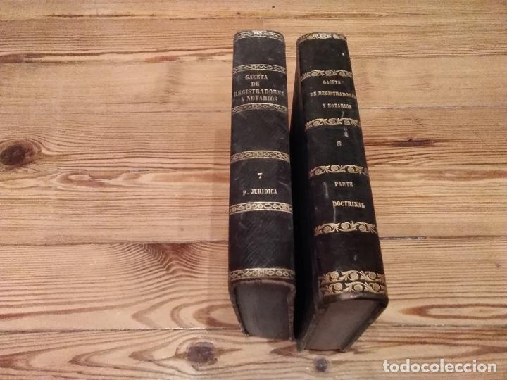 GACETA DE REGISTRADORES Y NOTARIOS PARTE DOCTRINAL 1869 1870 (Libros Antiguos, Raros y Curiosos - Ciencias, Manuales y Oficios - Derecho, Economía y Comercio)