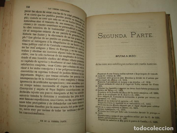 Libros antiguos: LAS CÓRTES CATALANAS. ESTUDIO JURÍDICO Y COMPARATIVO DE SU ORGANIZACIÓN. 1876. - Foto 4 - 194511588
