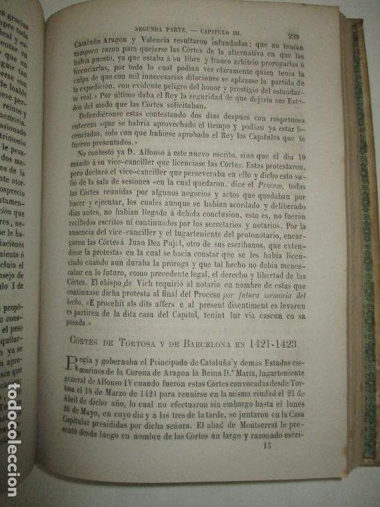 Libros antiguos: LAS CÓRTES CATALANAS. ESTUDIO JURÍDICO Y COMPARATIVO DE SU ORGANIZACIÓN. 1876. - Foto 5 - 194511588
