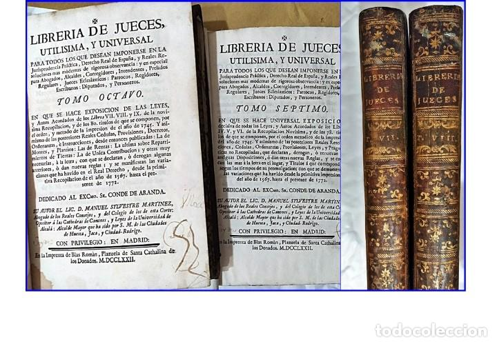 AÑO 1772: MADRID. LIBRERÍA DE JUECES. 2 VOLUM: MANCEBAS,MORISCOS,HECHICEROS,CATALUÑA EN LO JUDICIAL (Libros Antiguos, Raros y Curiosos - Ciencias, Manuales y Oficios - Derecho, Economía y Comercio)