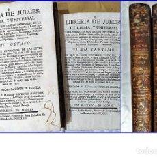 Libros antiguos: AÑO 1772: MADRID. LIBRERÍA DE JUECES. 2 VOLUM: MANCEBAS,MORISCOS,HECHICEROS,CATALUÑA EN LO JUDICIAL. Lote 194521381