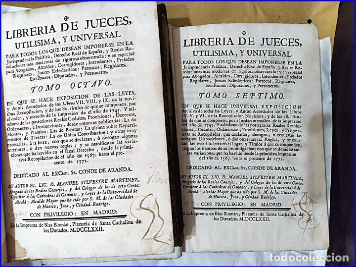 Libros antiguos: AÑO 1772: MADRID. LIBRERÍA DE JUECES. 2 VOLUM: MANCEBAS,MORISCOS,HECHICEROS,CATALUÑA EN LO JUDICIAL - Foto 2 - 194521381