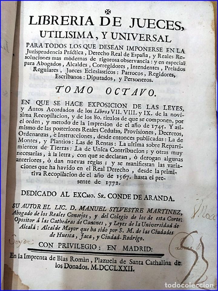 Libros antiguos: AÑO 1772: MADRID. LIBRERÍA DE JUECES. 2 VOLUM: MANCEBAS,MORISCOS,HECHICEROS,CATALUÑA EN LO JUDICIAL - Foto 3 - 194521381
