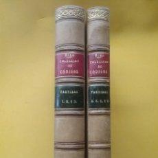Libros antiguos: LAS SIETE PARTIDAS COMPENDIADAS Y ANOTADAS POR JOSE MURO 1875. TOMO I Y II. Lote 194563872