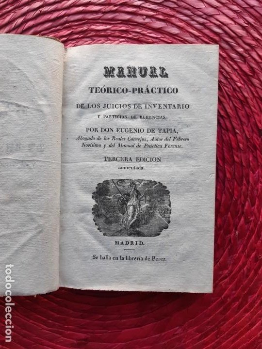 Libros antiguos: Manual teórico-practico de los juicios de inventario 1832 - Foto 5 - 194586237