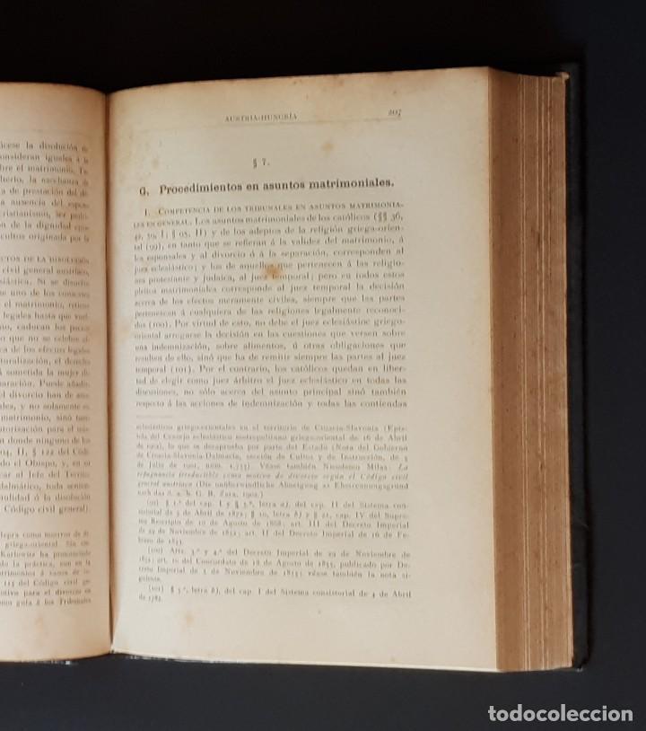 Libros antiguos: DERECHO MATRIMONIAL DE LOS ESTADOS EUROPEOS Y SUS COLONIAS, TOMO 1. J. HAHN. BARCELONA- 1907 - Foto 9 - 194589976