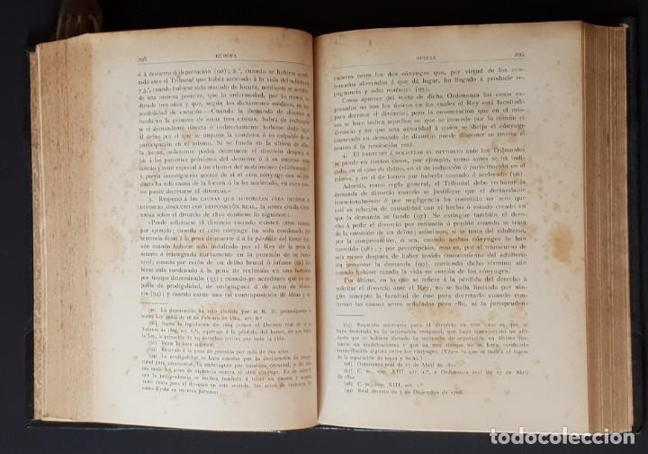 Libros antiguos: DERECHO MATRIMONIAL DE LOS ESTADOS EUROPEOS Y SUS COLONIAS, TOMO 1. J. HAHN. BARCELONA- 1907 - Foto 11 - 194589976