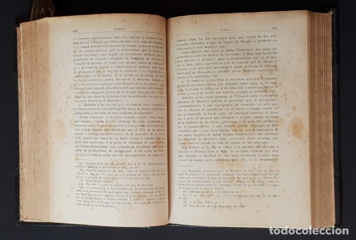 Libros antiguos: DERECHO MATRIMONIAL DE LOS ESTADOS EUROPEOS Y SUS COLONIAS, TOMO 1. J. HAHN. BARCELONA- 1907 - Foto 12 - 194589976
