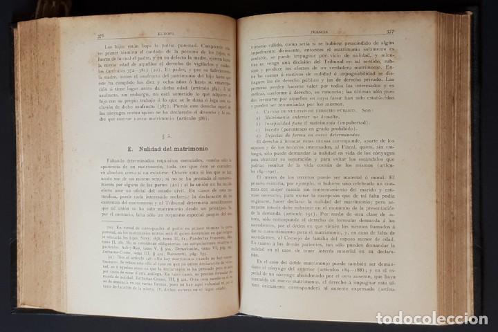 Libros antiguos: DERECHO MATRIMONIAL DE LOS ESTADOS EUROPEOS Y SUS COLONIAS, TOMO 1. J. HAHN. BARCELONA- 1907 - Foto 14 - 194589976