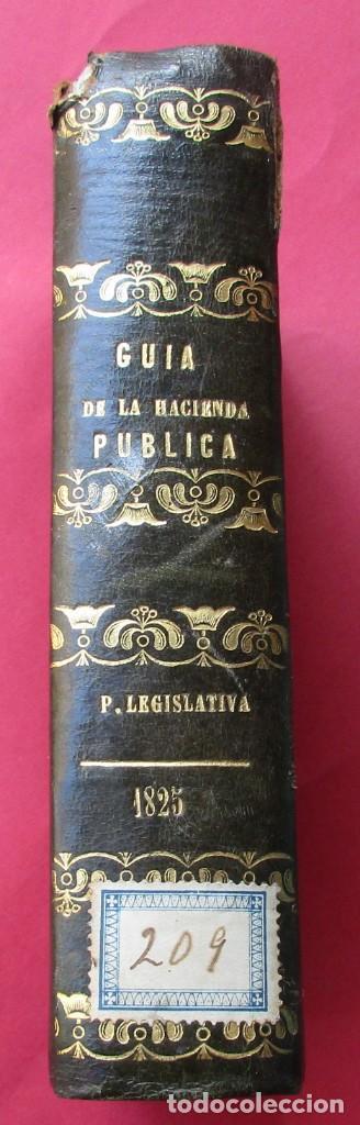 GUIA DE LA REAL HACIENDA. PARTE LEGISLATIVA. REALES DECRETOS Y ÓRDENES. MADRID 1827. HOLANDESA. (Libros Antiguos, Raros y Curiosos - Ciencias, Manuales y Oficios - Derecho, Economía y Comercio)