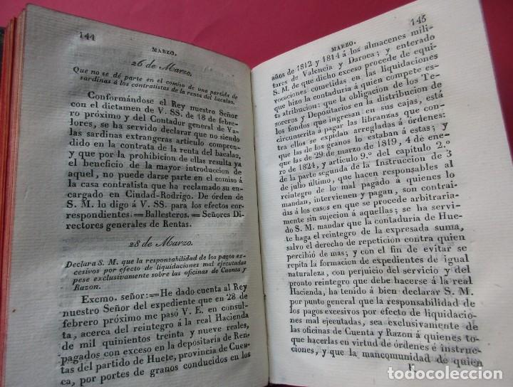 Libros antiguos: GUIA DE LA REAL HACIENDA. PARTE LEGISLATIVA. REALES DECRETOS Y ÓRDENES. MADRID 1827. HOLANDESA. - Foto 4 - 194591997