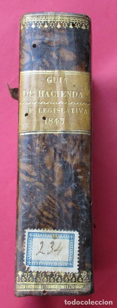 GUIA DE LA HACIENDA PÚBLICA. PARTE LEGISLATIVA PARA 1843. MADRID 1844. 7 HOJAS PLEGADAS. 16 X10,5 CM (Libros Antiguos, Raros y Curiosos - Ciencias, Manuales y Oficios - Derecho, Economía y Comercio)