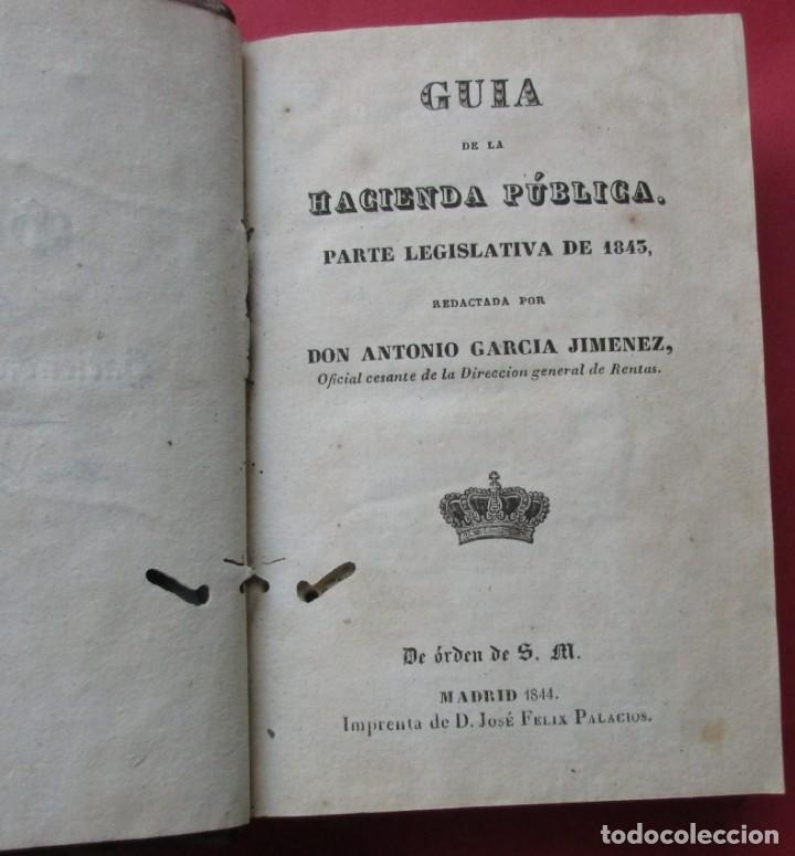 Libros antiguos: GUIA DE LA HACIENDA PÚBLICA. PARTE LEGISLATIVA PARA 1843. MADRID 1844. 7 HOJAS PLEGADAS. 16 X10,5 CM - Foto 3 - 194605365