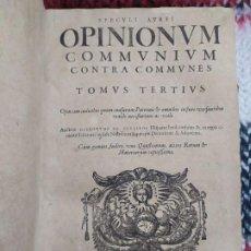 Libros antiguos: 1623. OPINIONES DE COMUNES CONTRA COMUNES. JERÓNIMO DE CEVALLOS. DERECHO CANÓNICO S XVII. . Lote 194785091