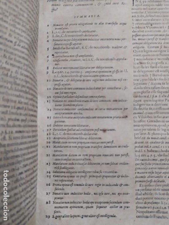 Libros antiguos: 1623. Opiniones de comunes. Jerónimo de Cevallos. Derecho Canónico. Folio. Pergamino. - Foto 4 - 194785091