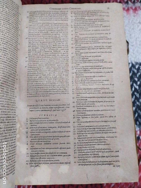 Libros antiguos: 1623. Opiniones de comunes. Jerónimo de Cevallos. Derecho Canónico. Folio. Pergamino. - Foto 5 - 194785091