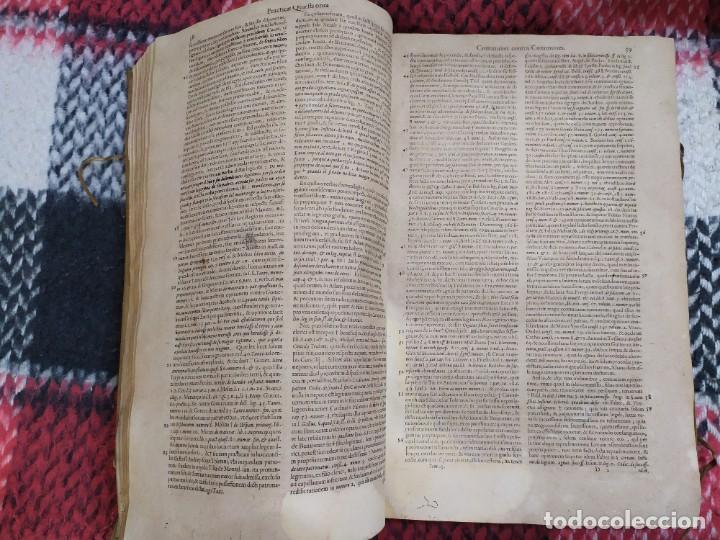 Libros antiguos: 1623. Opiniones de comunes. Jerónimo de Cevallos. Derecho Canónico. Folio. Pergamino. - Foto 6 - 194785091