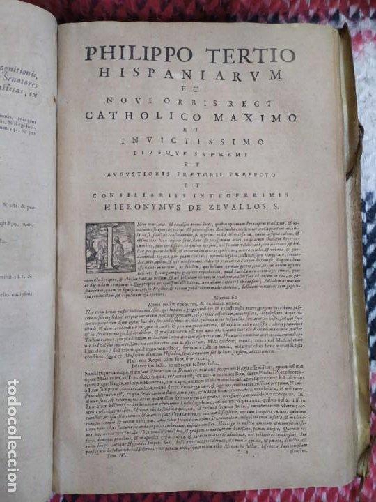 Libros antiguos: 1623. Opiniones de comunes. Jerónimo de Cevallos. Derecho Canónico. Folio. Pergamino. - Foto 10 - 194785091