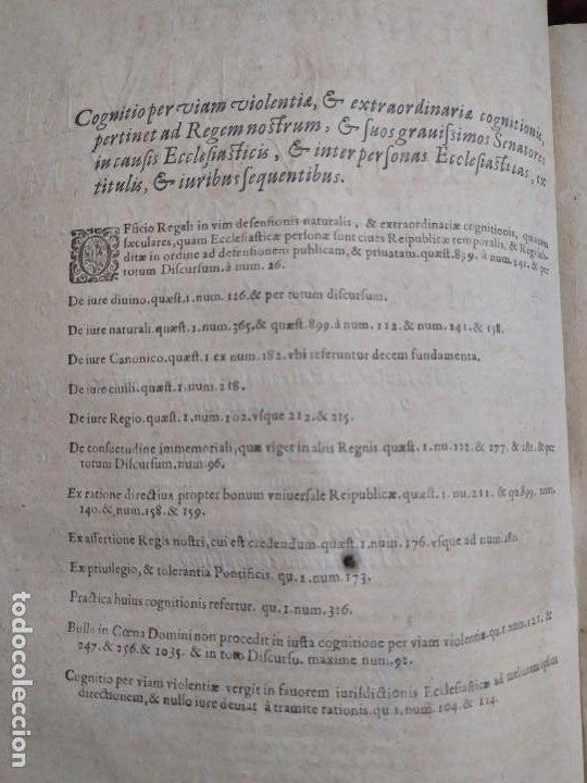 Libros antiguos: 1623. Opiniones de comunes. Jerónimo de Cevallos. Derecho Canónico. Folio. Pergamino. - Foto 11 - 194785091
