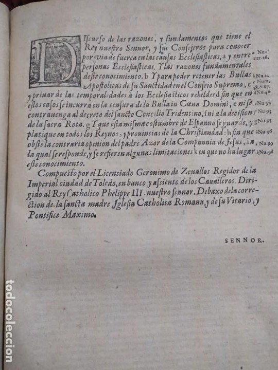 Libros antiguos: 1623. Opiniones de comunes. Jerónimo de Cevallos. Derecho Canónico. Folio. Pergamino. - Foto 13 - 194785091