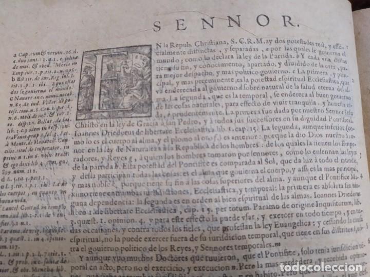 Libros antiguos: 1623. Opiniones de comunes. Jerónimo de Cevallos. Derecho Canónico. Folio. Pergamino. - Foto 15 - 194785091