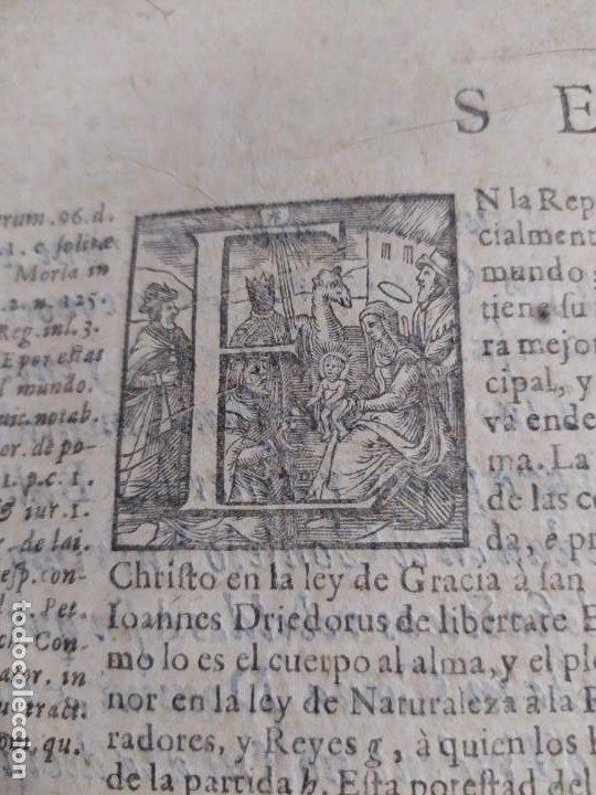Libros antiguos: 1623. Opiniones de comunes. Jerónimo de Cevallos. Derecho Canónico. Folio. Pergamino. - Foto 16 - 194785091