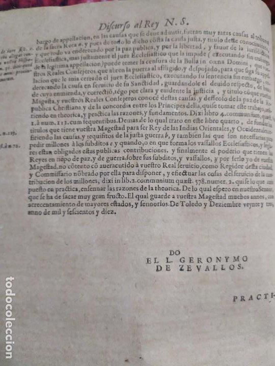 Libros antiguos: 1623. Opiniones de comunes. Jerónimo de Cevallos. Derecho Canónico. Folio. Pergamino. - Foto 18 - 194785091
