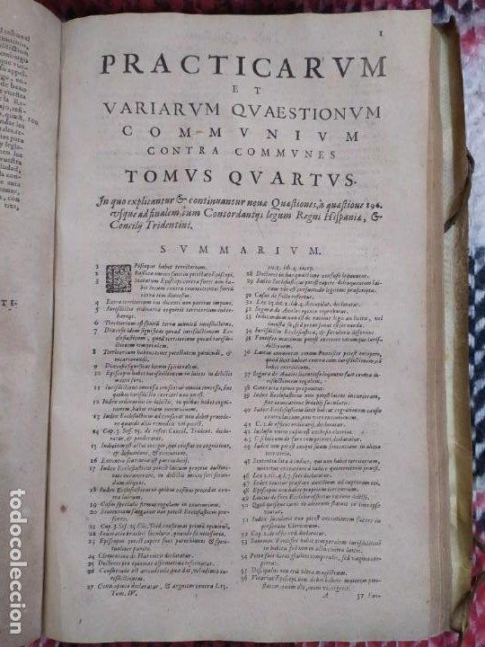 Libros antiguos: 1623. Opiniones de comunes. Jerónimo de Cevallos. Derecho Canónico. Folio. Pergamino. - Foto 19 - 194785091