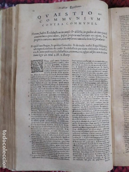 Libros antiguos: 1623. Opiniones de comunes. Jerónimo de Cevallos. Derecho Canónico. Folio. Pergamino. - Foto 20 - 194785091
