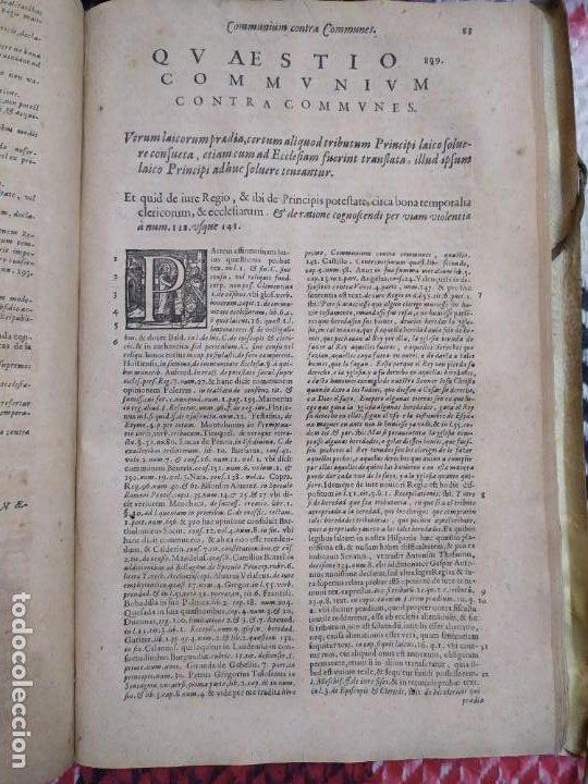 Libros antiguos: 1623. Opiniones de comunes. Jerónimo de Cevallos. Derecho Canónico. Folio. Pergamino. - Foto 22 - 194785091