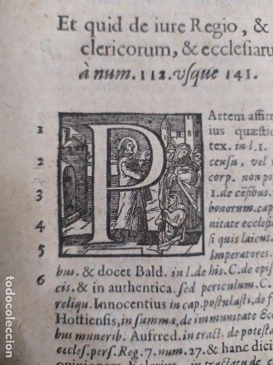 Libros antiguos: 1623. Opiniones de comunes. Jerónimo de Cevallos. Derecho Canónico. Folio. Pergamino. - Foto 23 - 194785091