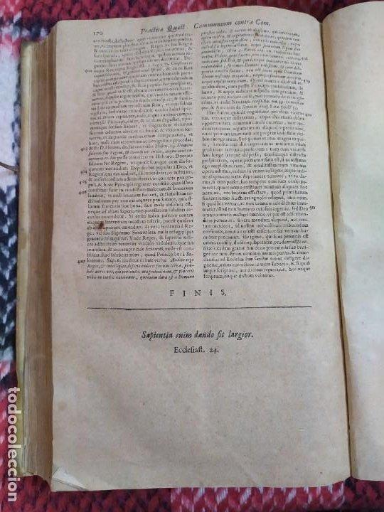 Libros antiguos: 1623. Opiniones de comunes. Jerónimo de Cevallos. Derecho Canónico. Folio. Pergamino. - Foto 24 - 194785091