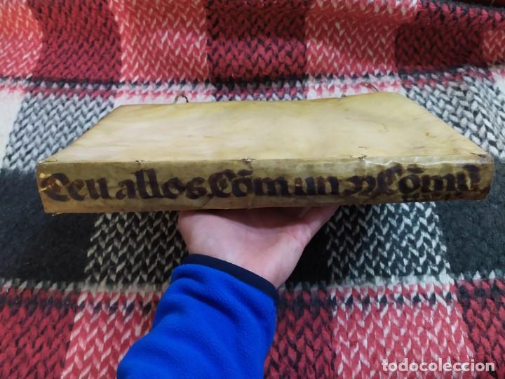 Libros antiguos: 1623. Opiniones de comunes. Jerónimo de Cevallos. Derecho Canónico. Folio. Pergamino. - Foto 32 - 194785091